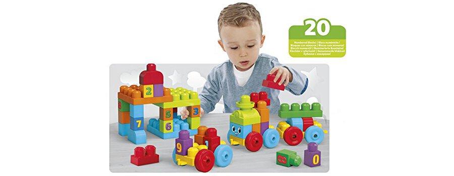 Mega Bloks Dkx60 Jouet De Premier Age First Builders Train D'apprentissage 123
