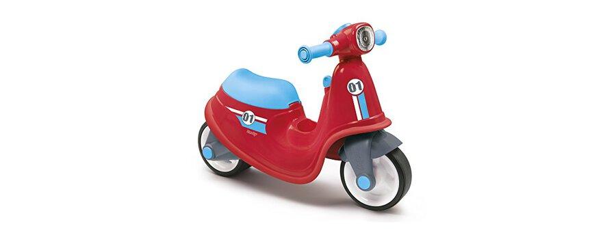 Smoby 721003 Porteur Enfant Scooter Avec Roues Silencieuses Rouge